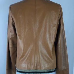 Apostrophe Jackets & Coats - Apostrophe Camel Brown Leather Jacket Size 12